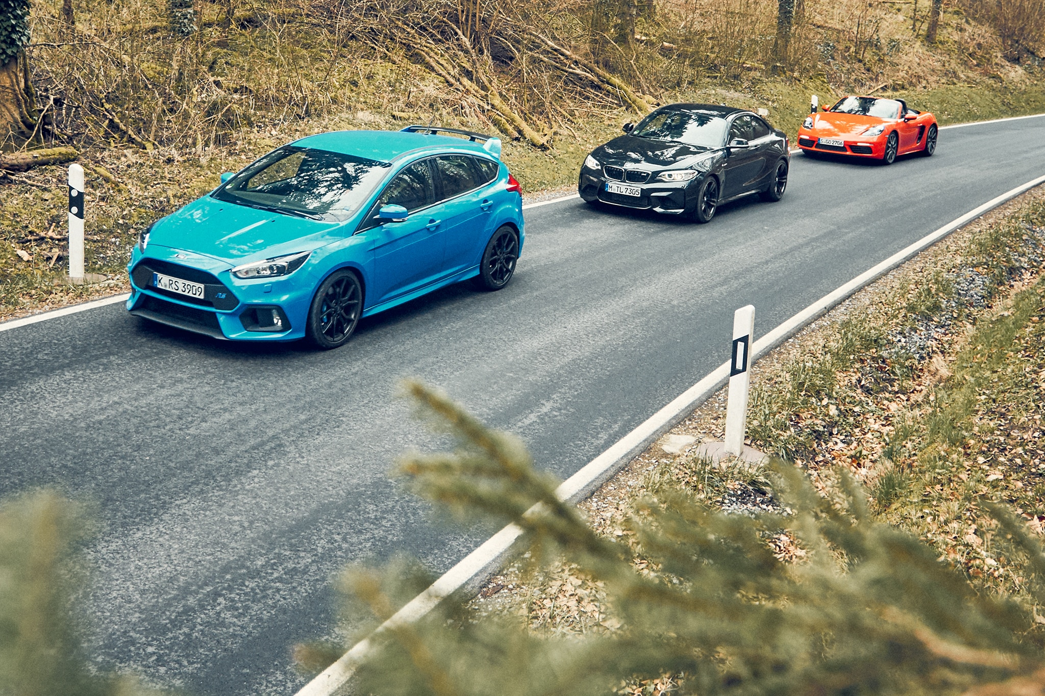 The Entertainers: BMW M2 vs  Ford Focus RS vs  Porsche 718 Boxster S