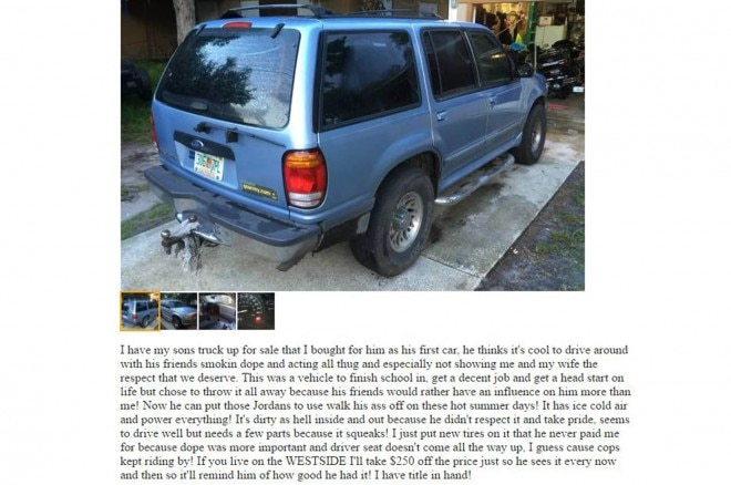 Craigslist Ad Dad Sells SUV