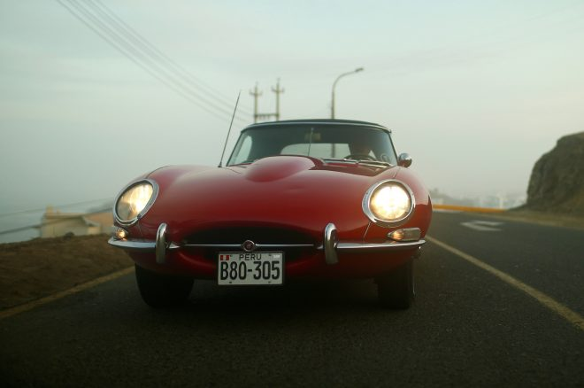 1964 Jaguar E Type Roadster Petrolicious front