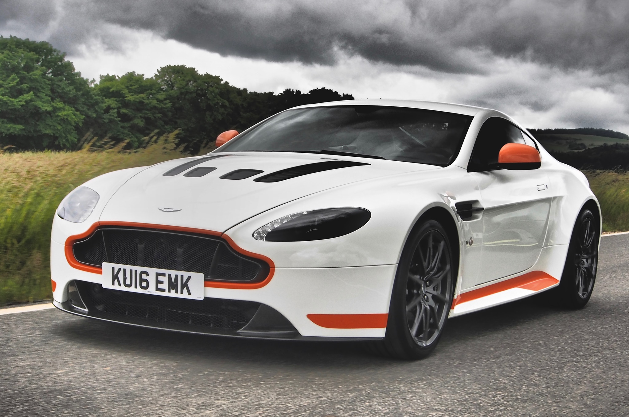 2017 Aston Martin V12 Vantage S Front Three Quarters In Motion