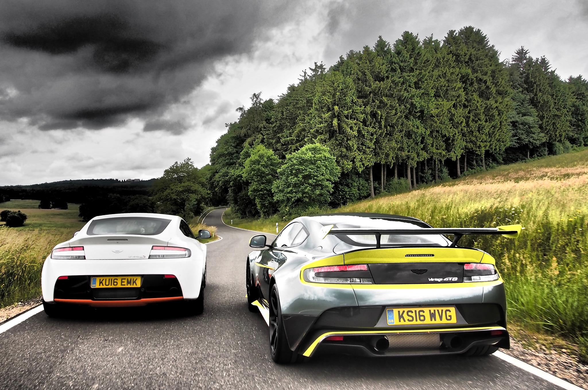 Aston Martin V Vantage GT And V Vantage S Track Drive - Aston martin vantage s