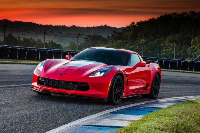 2017 Chevrolet Corvette Grand Sport Front Three Quarter 03