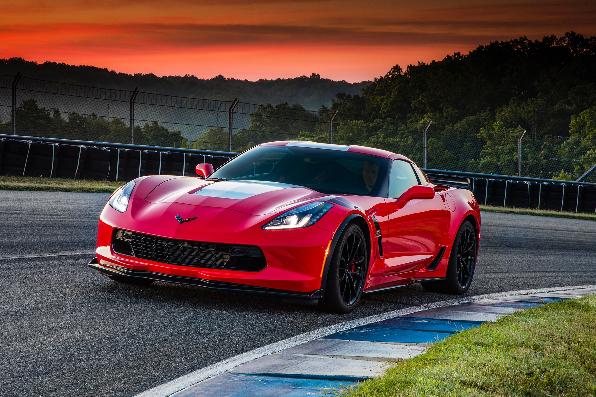 2017 Chevrolet Corvette Grand Sport Front Three Quarter 03