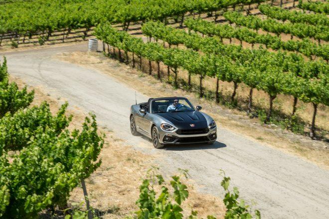 2017 Fiat 124 Spider Elaborazione Abarth front three quarter in motion