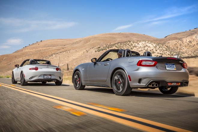 2017 Fiat Spider Abarth Vs 2016 Mazda Mx 5 Miata Club 23