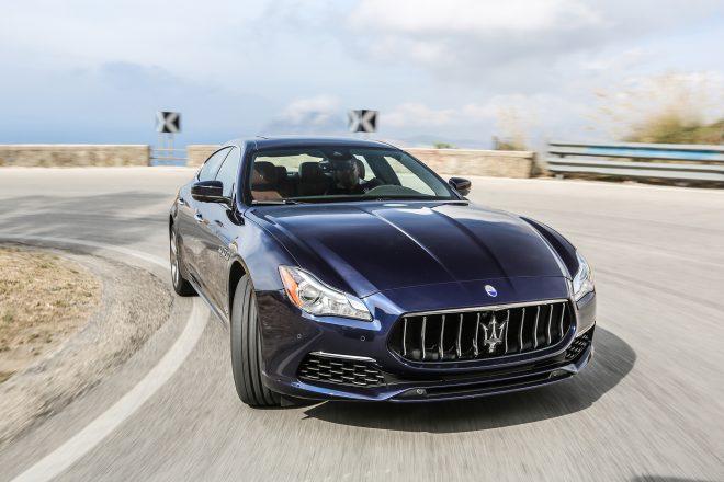 2017 Maserati Quattroporte GTS GranLusso front view in motion 10