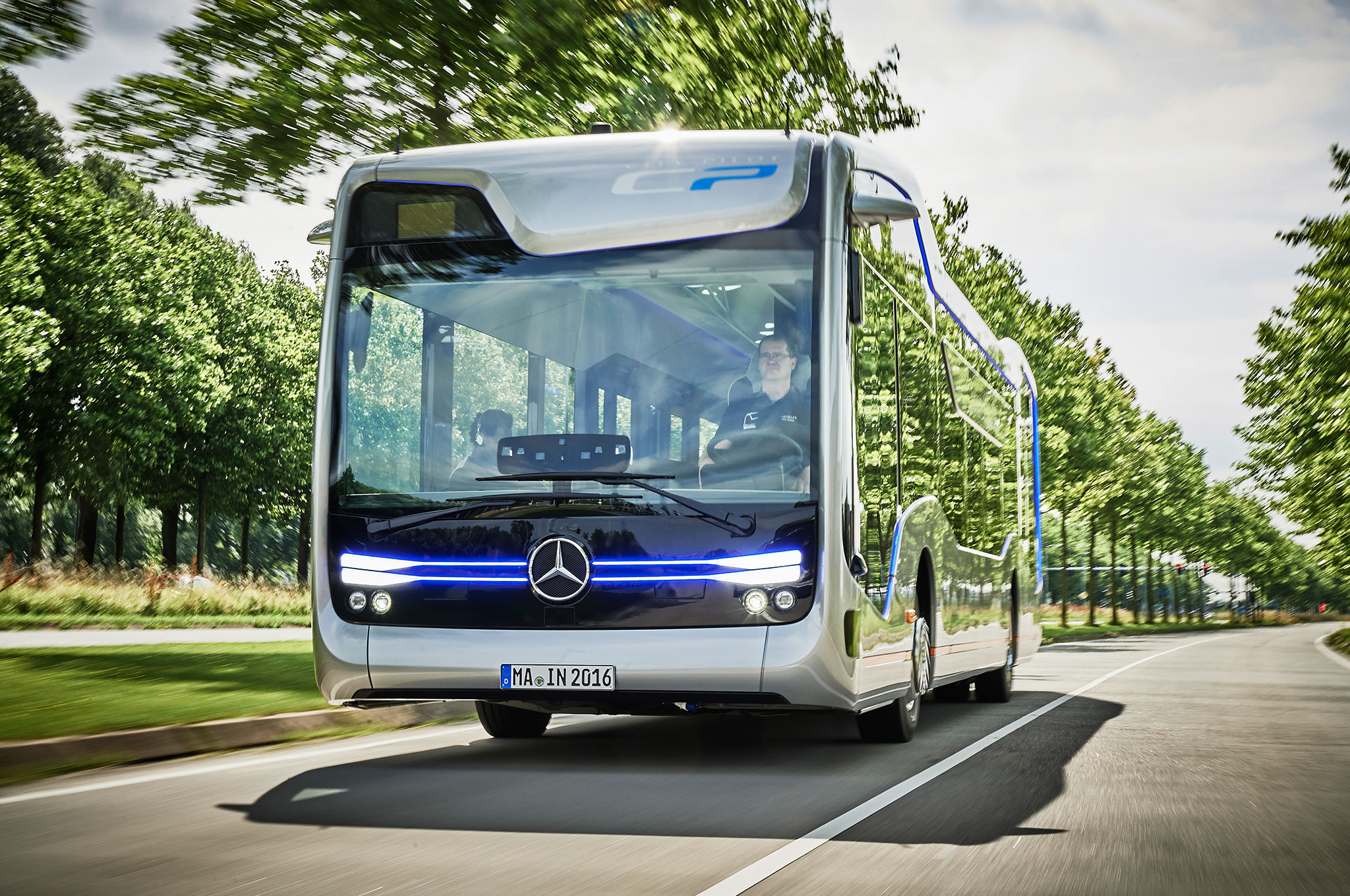 Mercedes Benz Future Bus With CityPilot Front View
