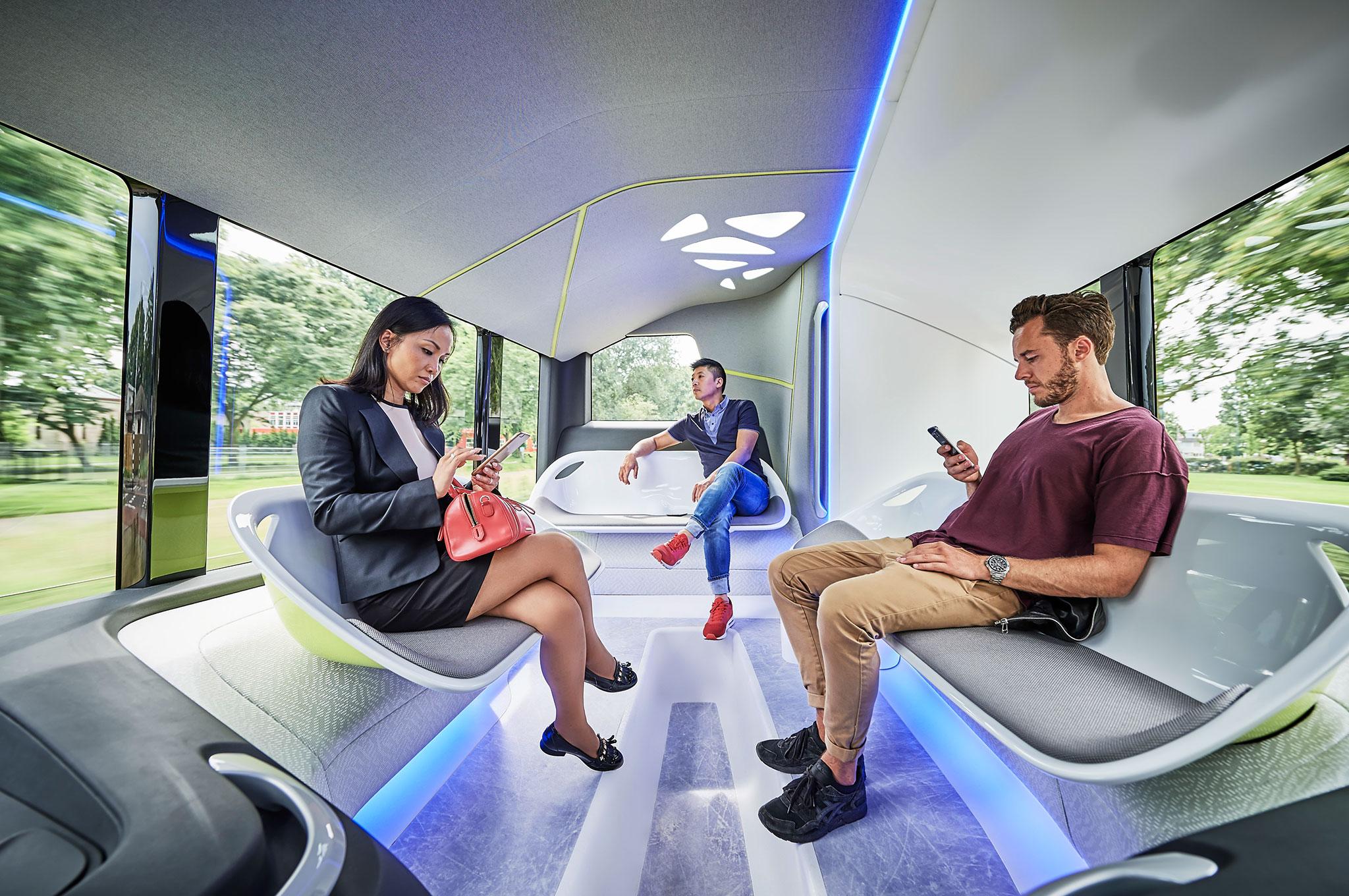 Mercedes Benz Future Bus with CityPilot interior