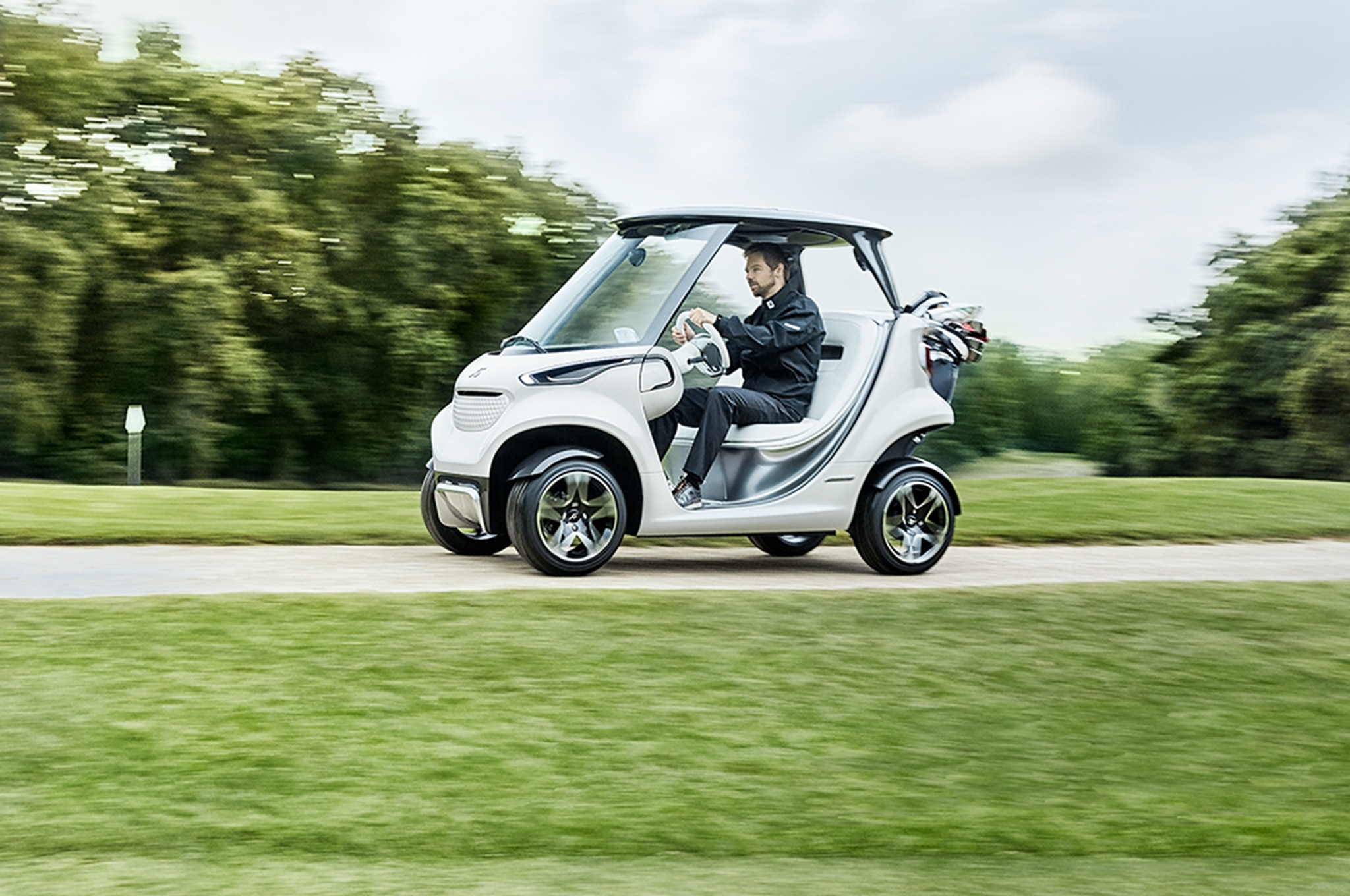 Mercedes-Benz Style Edition Garia Golf Car is an S-Cl for the ... on golf carts for disabled, golf carts for fire depts, golf carts vehicle,