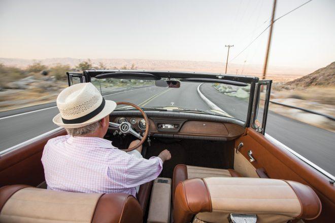1962 Studebaker Lark Daytona Convertible interior overview