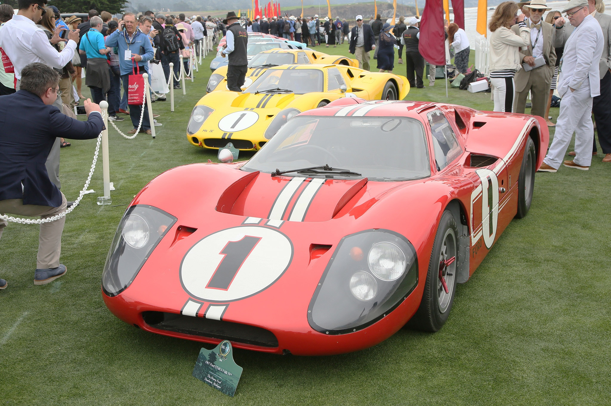 Ford GT40s at Pebble Beach