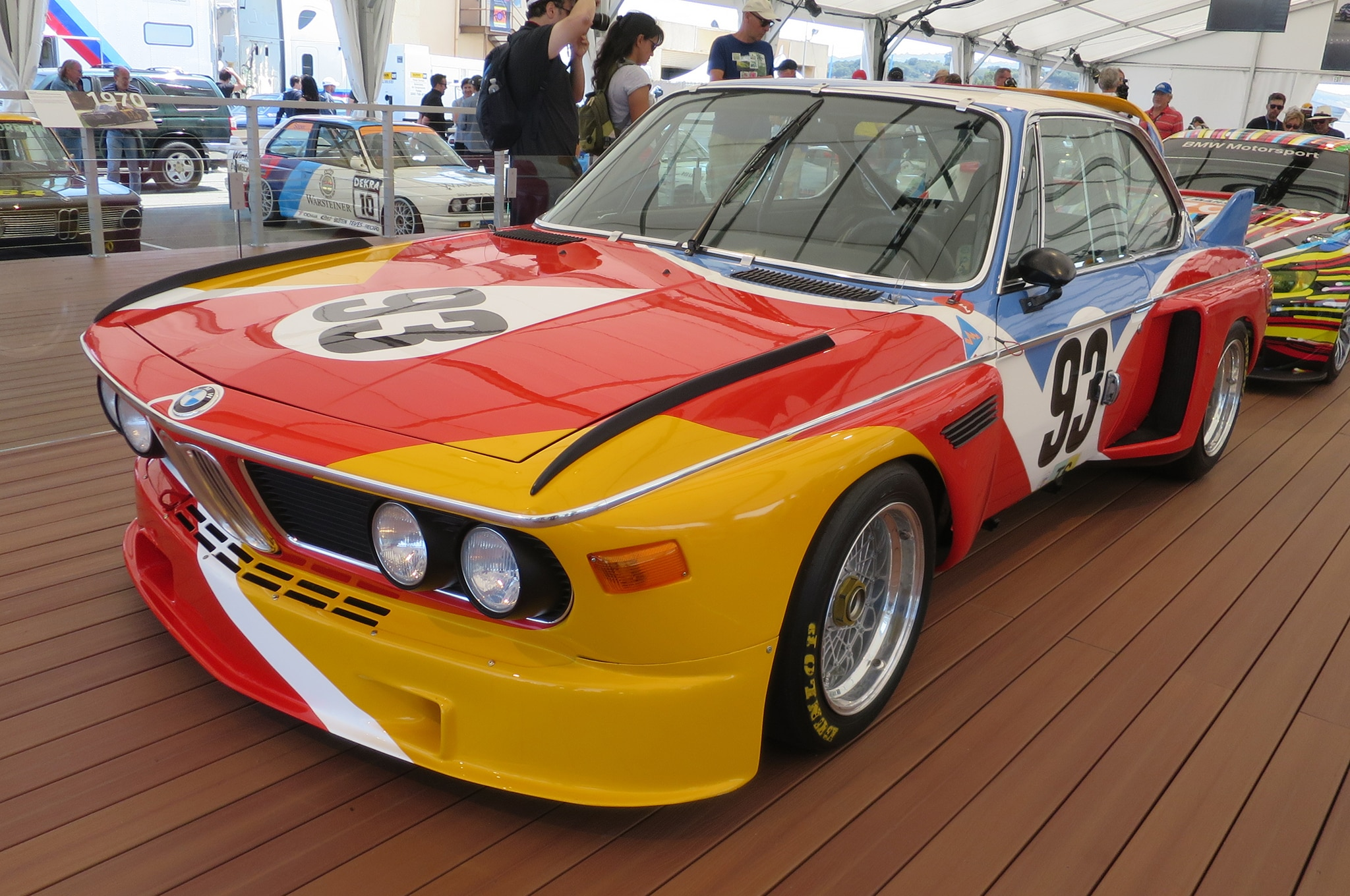 1975 BMW 30 CSL Art Car Alexander Calder front three quarter