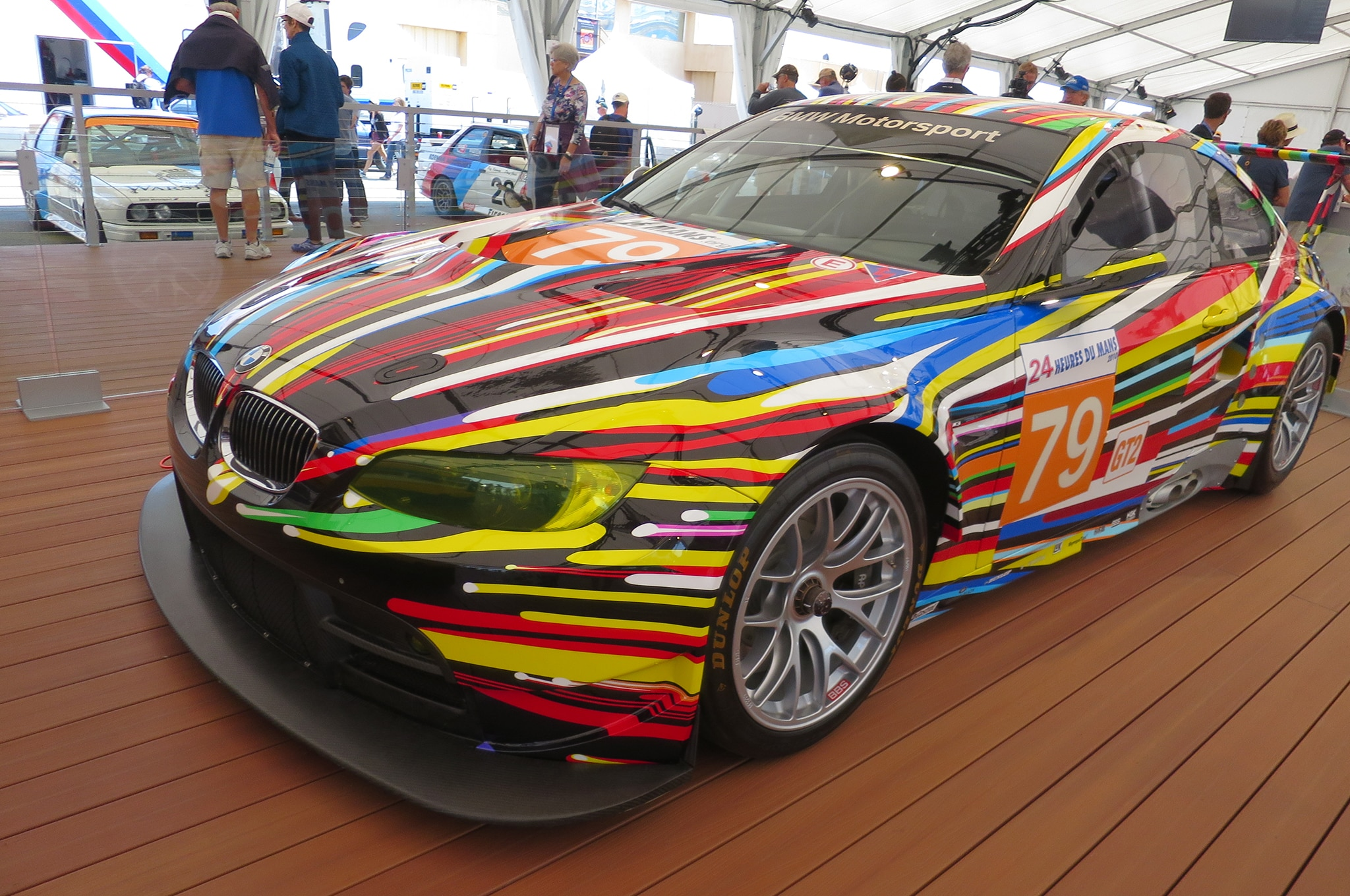 2010 BMW M3 GT2 Art Car Jeff Koons front three quarter