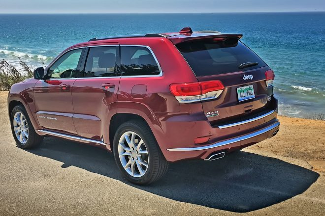 2016 Jeep Grand Cherokee Summit 4 4 EcoDiesel rear three quarter
