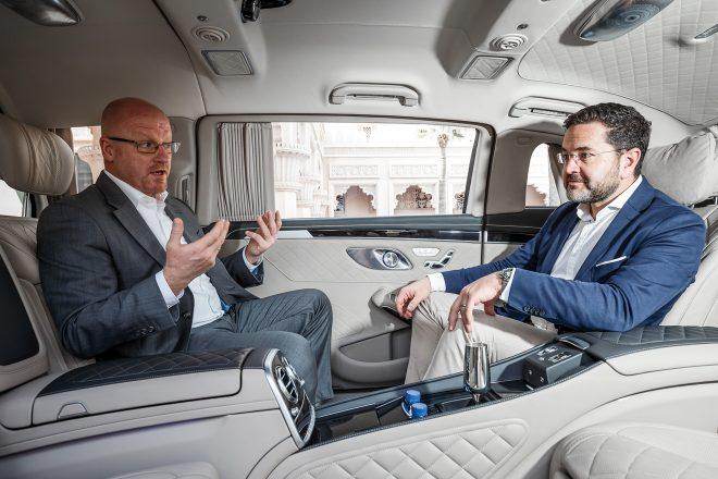 mercedes-maybach pullman dubai backseat ride | automobile magazine