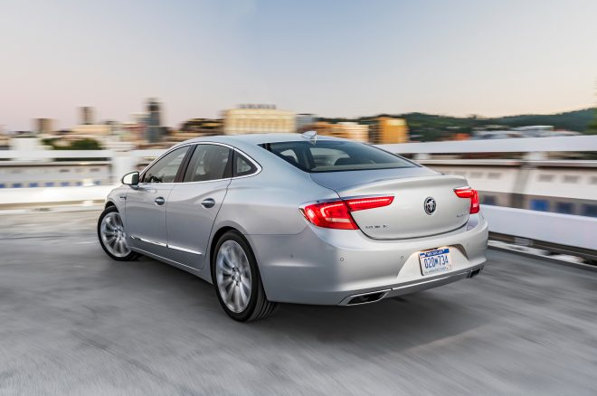 2017 Buick LaCrosse rear three quarter in motion