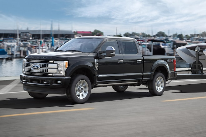 2017 F 350 Super Duty Front Three Quarter In Motion 01