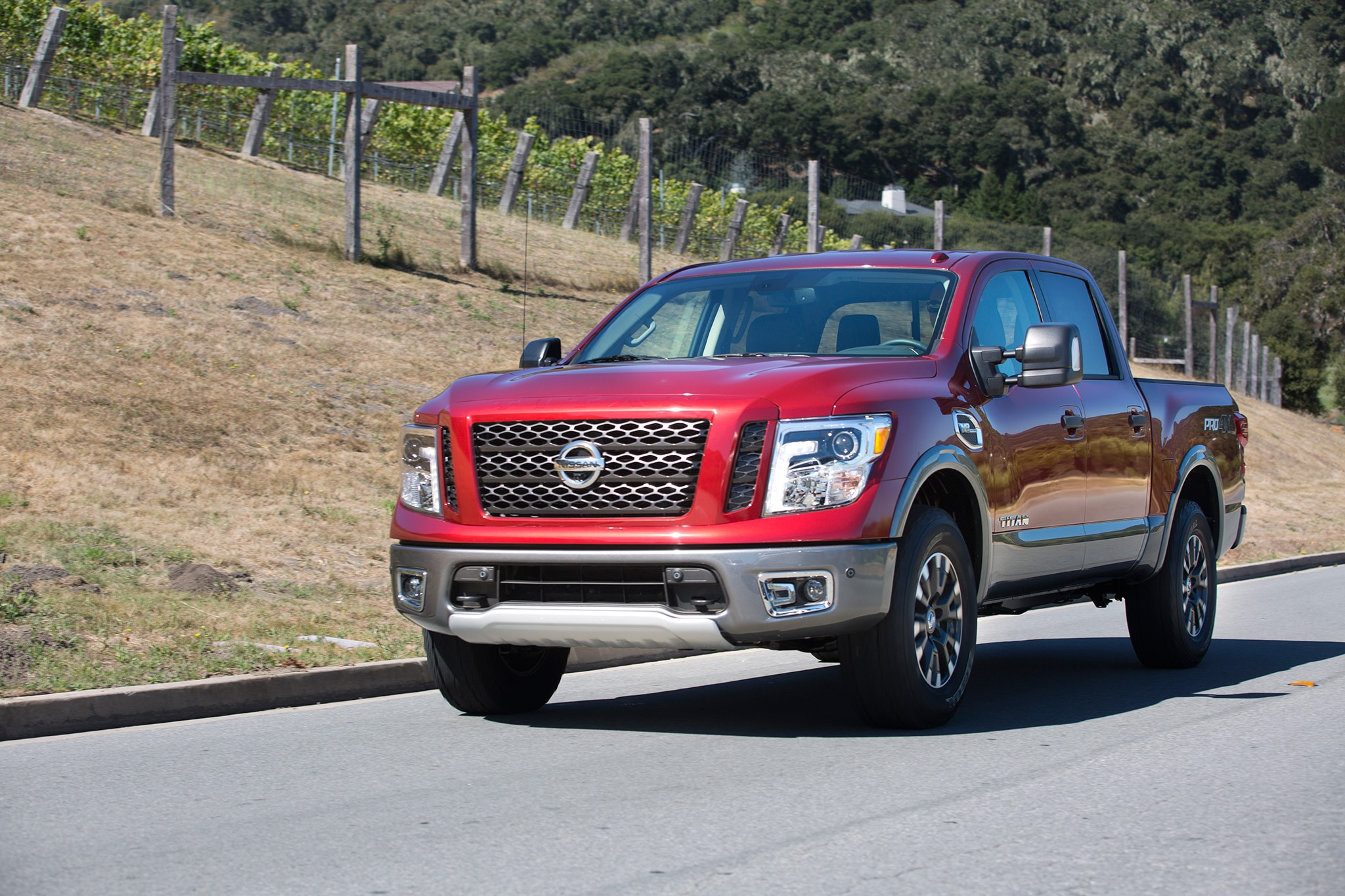 2017 Nissan Titan Front Three Quarter In Motion 03