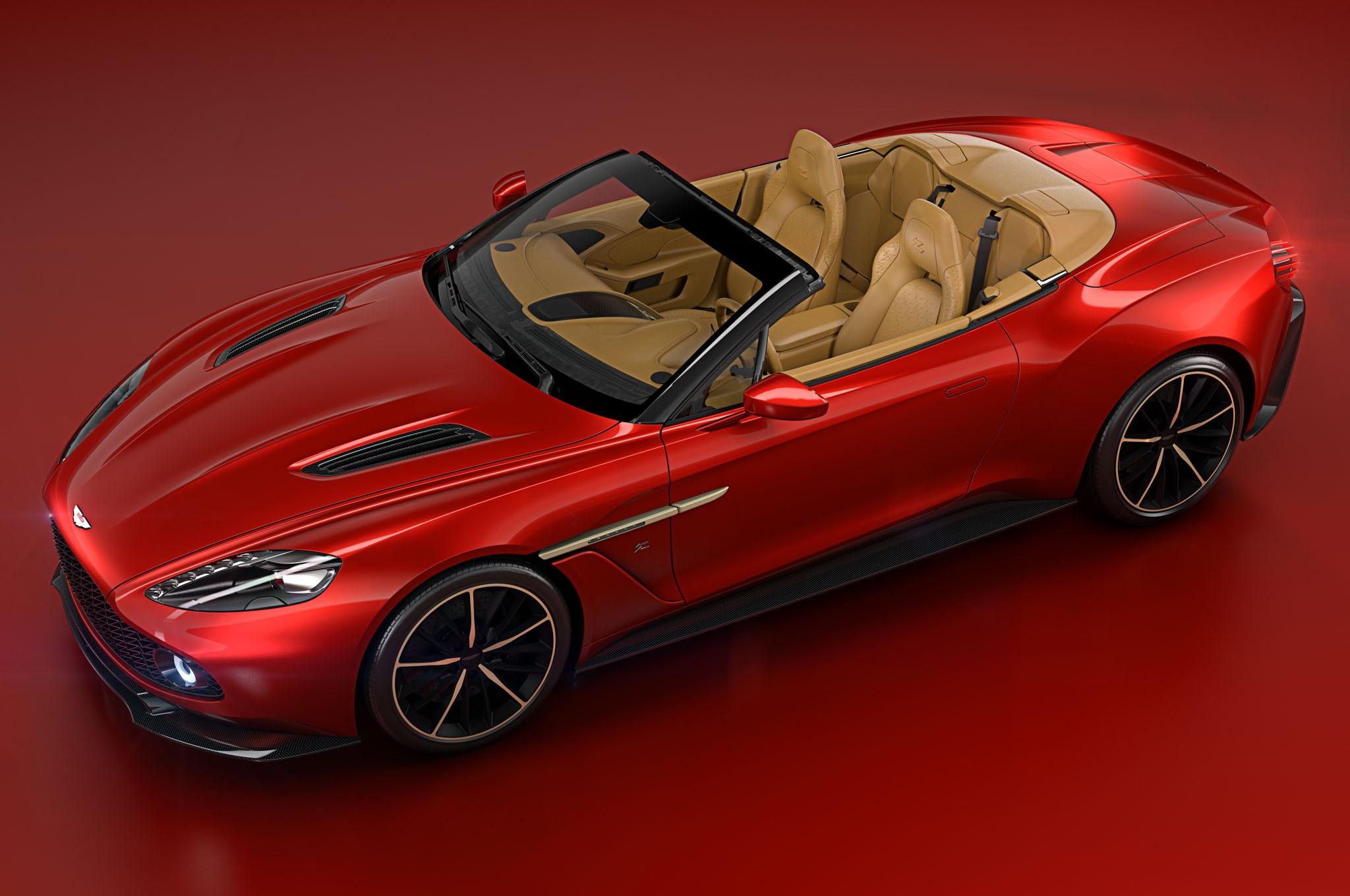 Aston Martin Vanquish Zagato Volante Front Three Quarter View