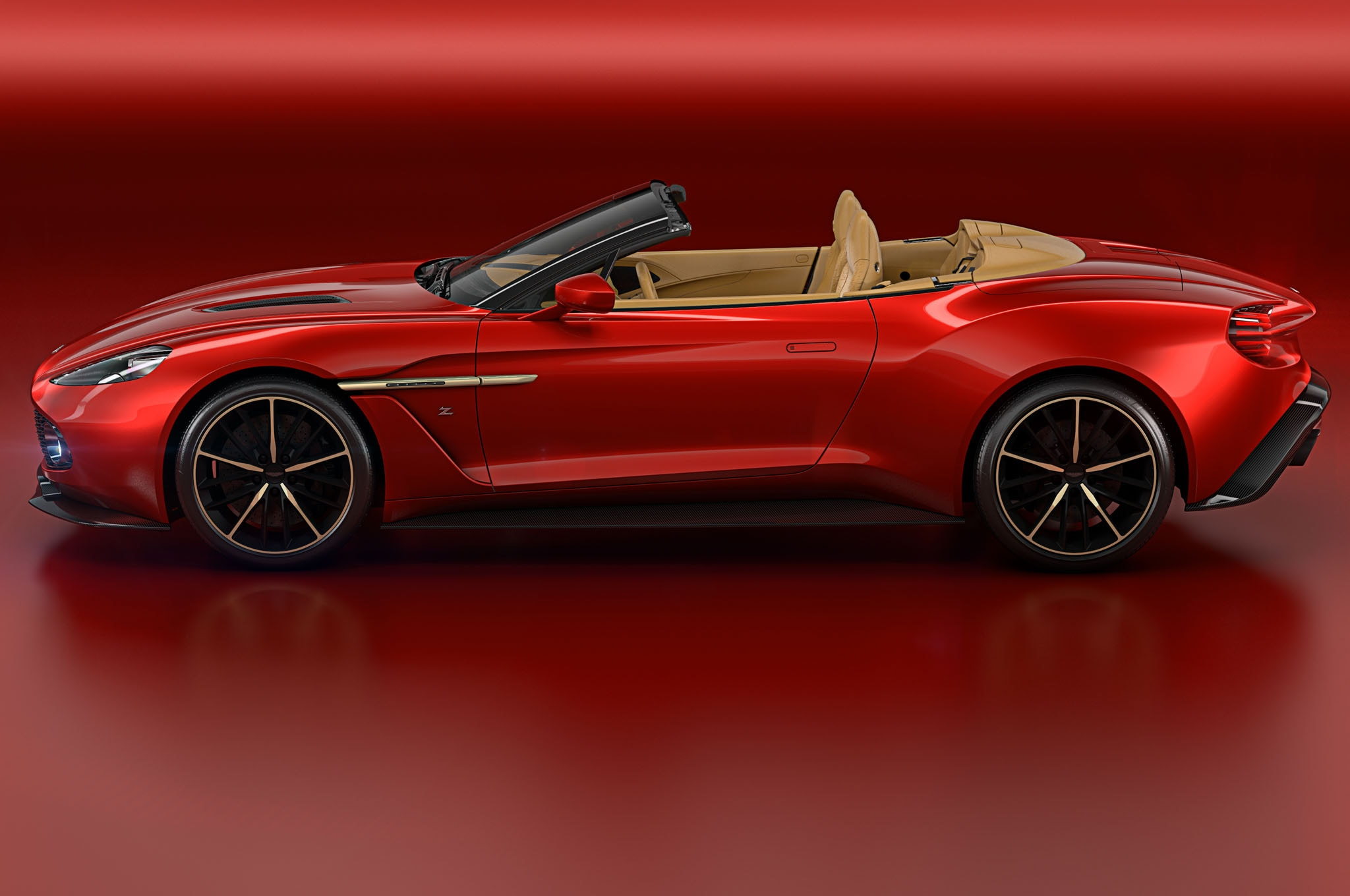 Aston Martin Vanquish Zagato Volante Side Angle 1