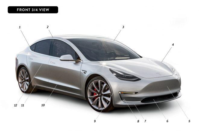 By Design Tesla Model 3 front three quarter
