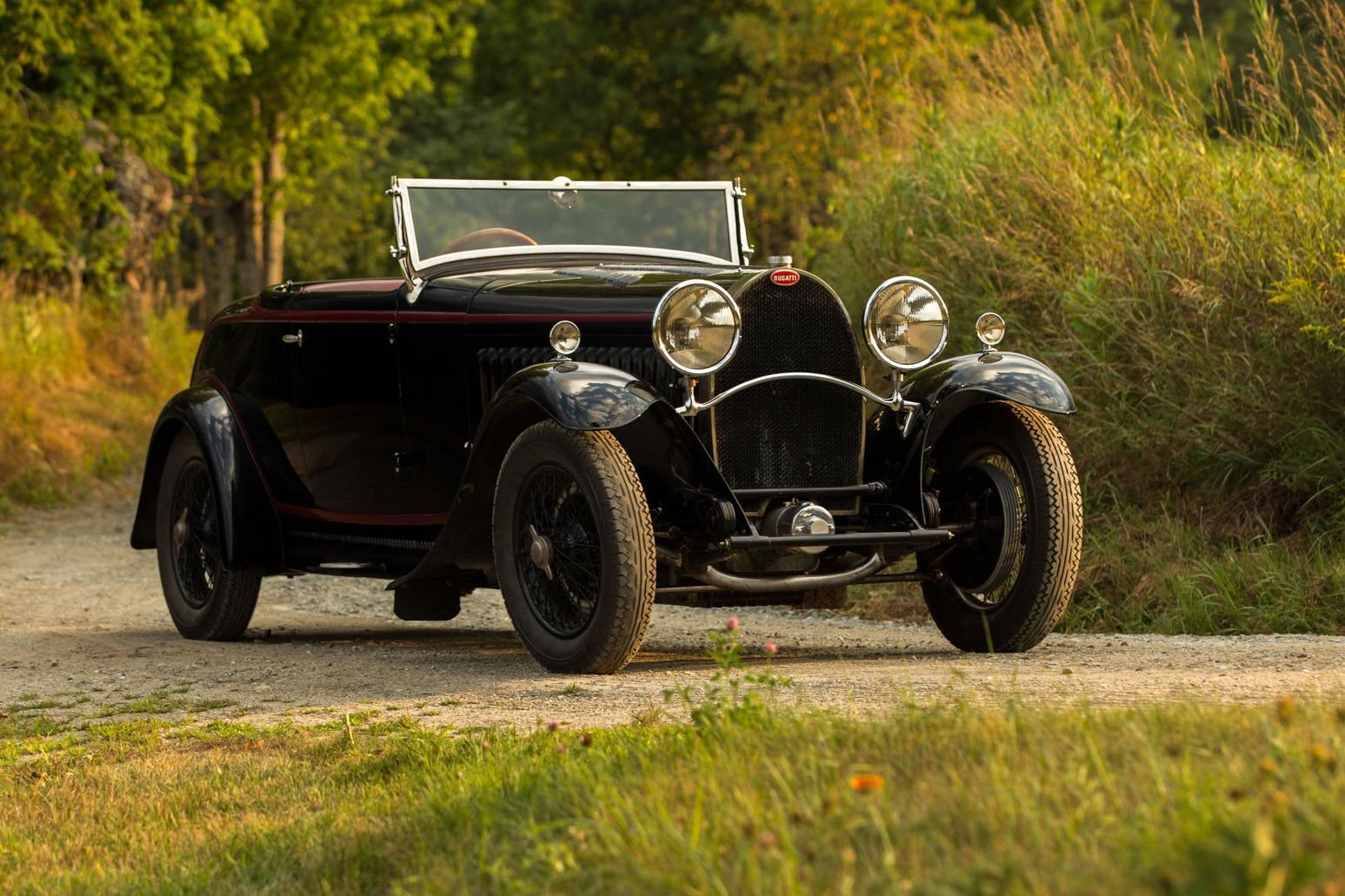 1932 Bugatti Type 49 Roadster Front Three Quarter