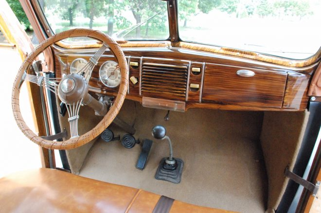 1939 Ford Deluxe Woodie Station Wagon Bring a Trailer interior