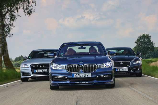2017 BMW Alpina B7 xDrive vs 2017 Audi S8 Plus vs 2016 Jaguar XJR 02