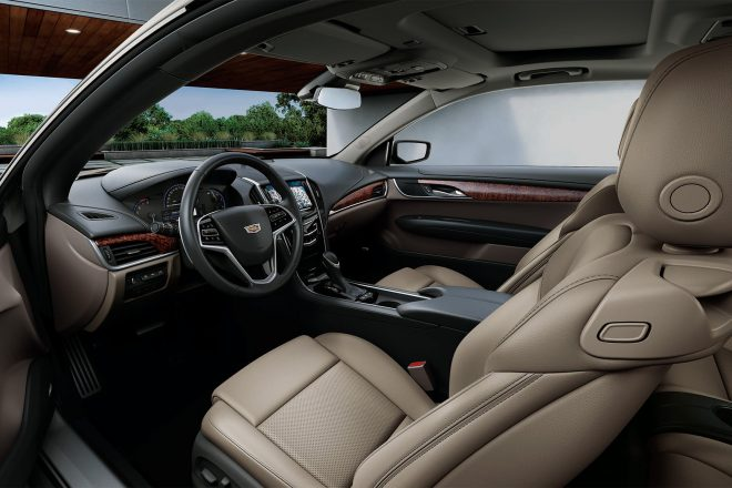 2017 Cadillac ATS Coupe White Edition cabin
