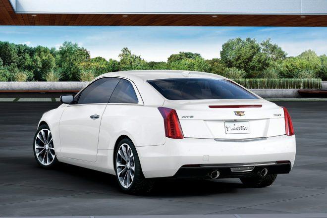 2017 Cadillac ATS Coupe White Edition rear three quarter