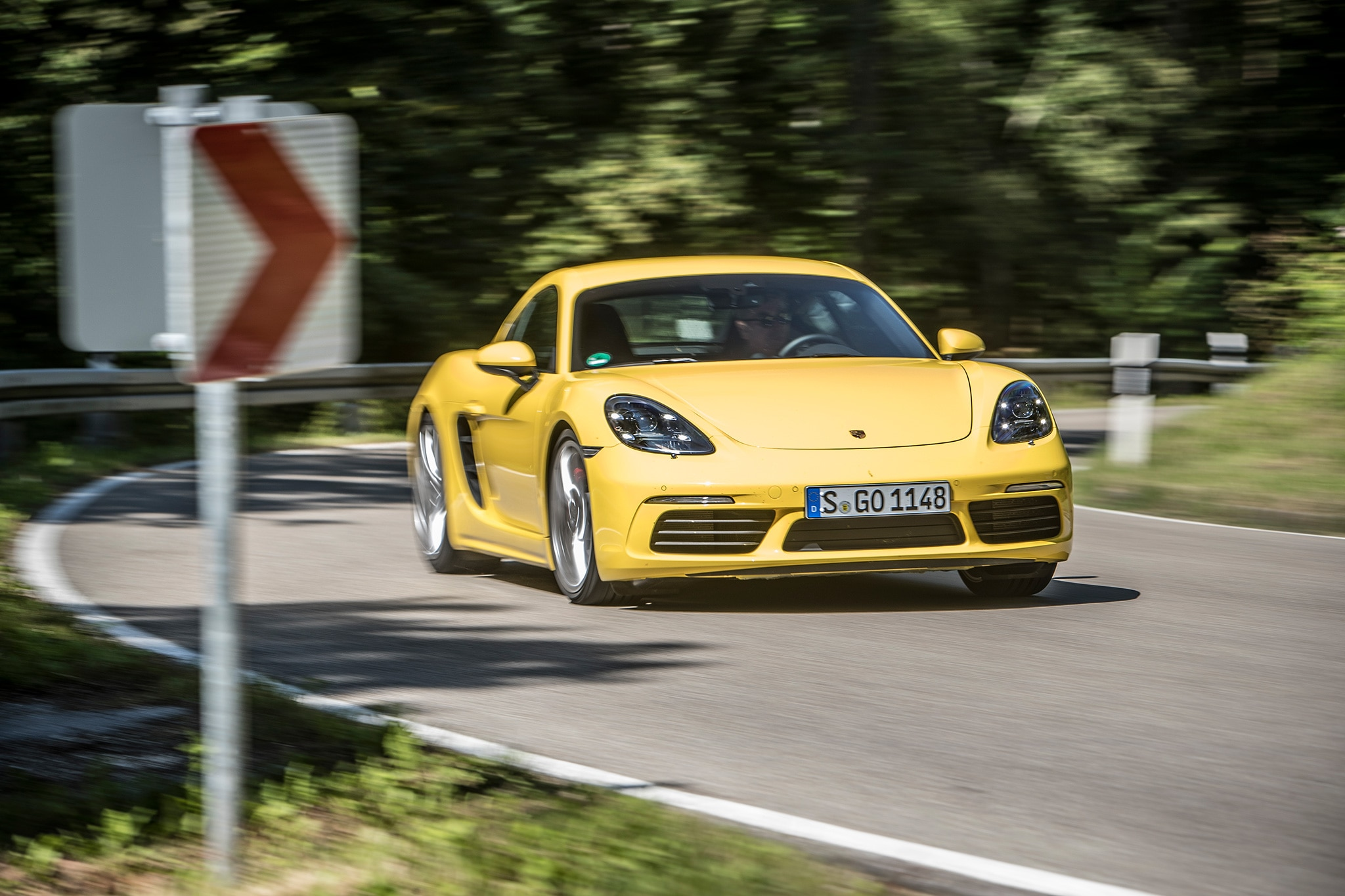 2017 Porsche Cayman S Front View In Motion