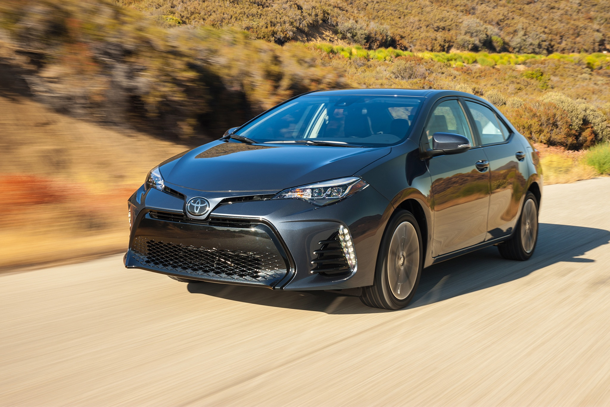 2017 Toyota Corolla XSE Front Three Quarter In Motion 04