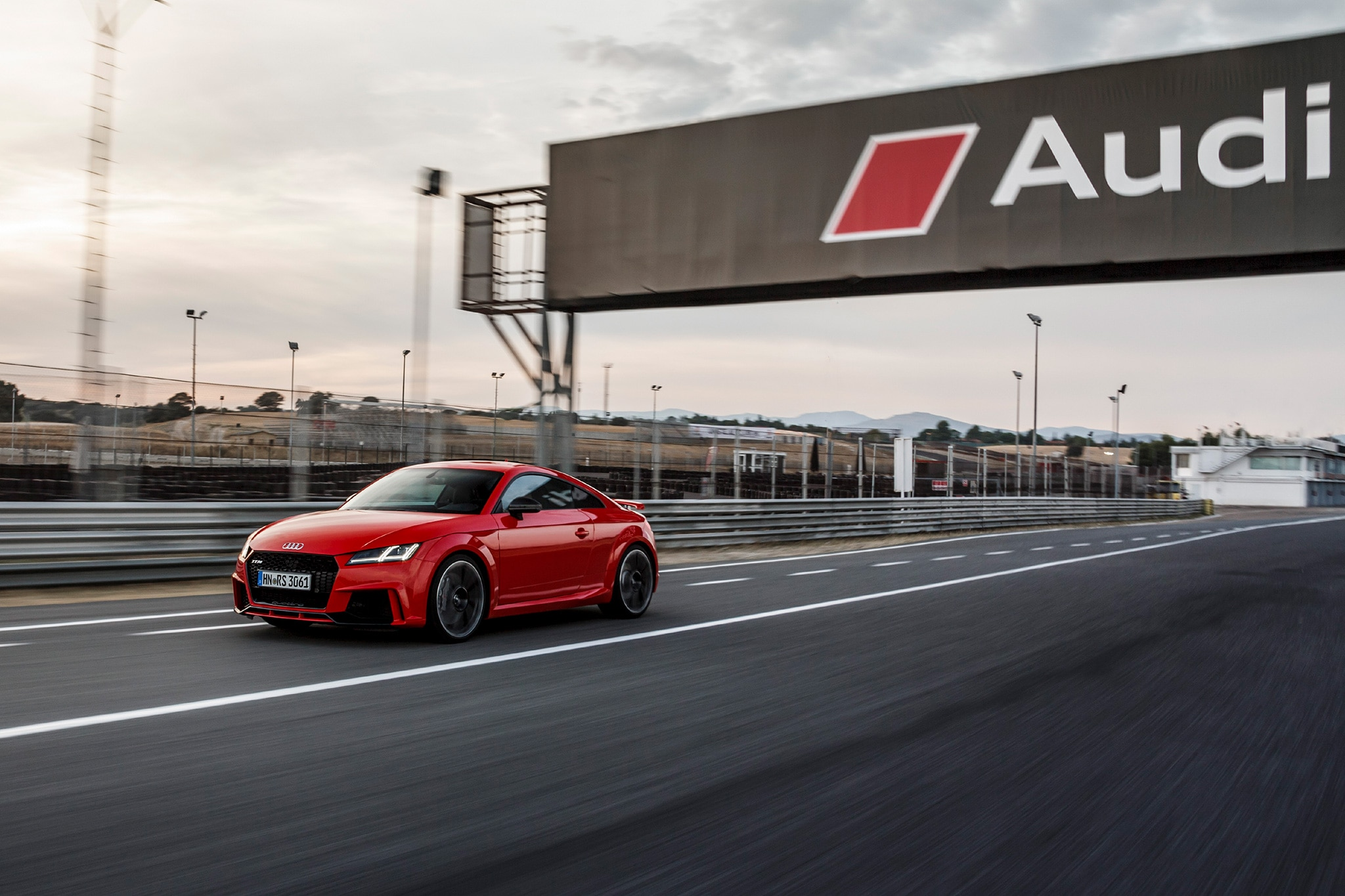 2018 Audi TT RS Coupe Front Three Quarter In Motion 13