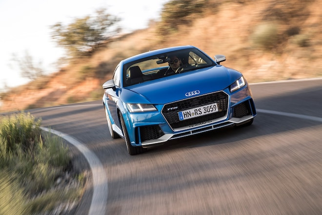 2018 Audi TT RS Coupe Front View In Motion 02