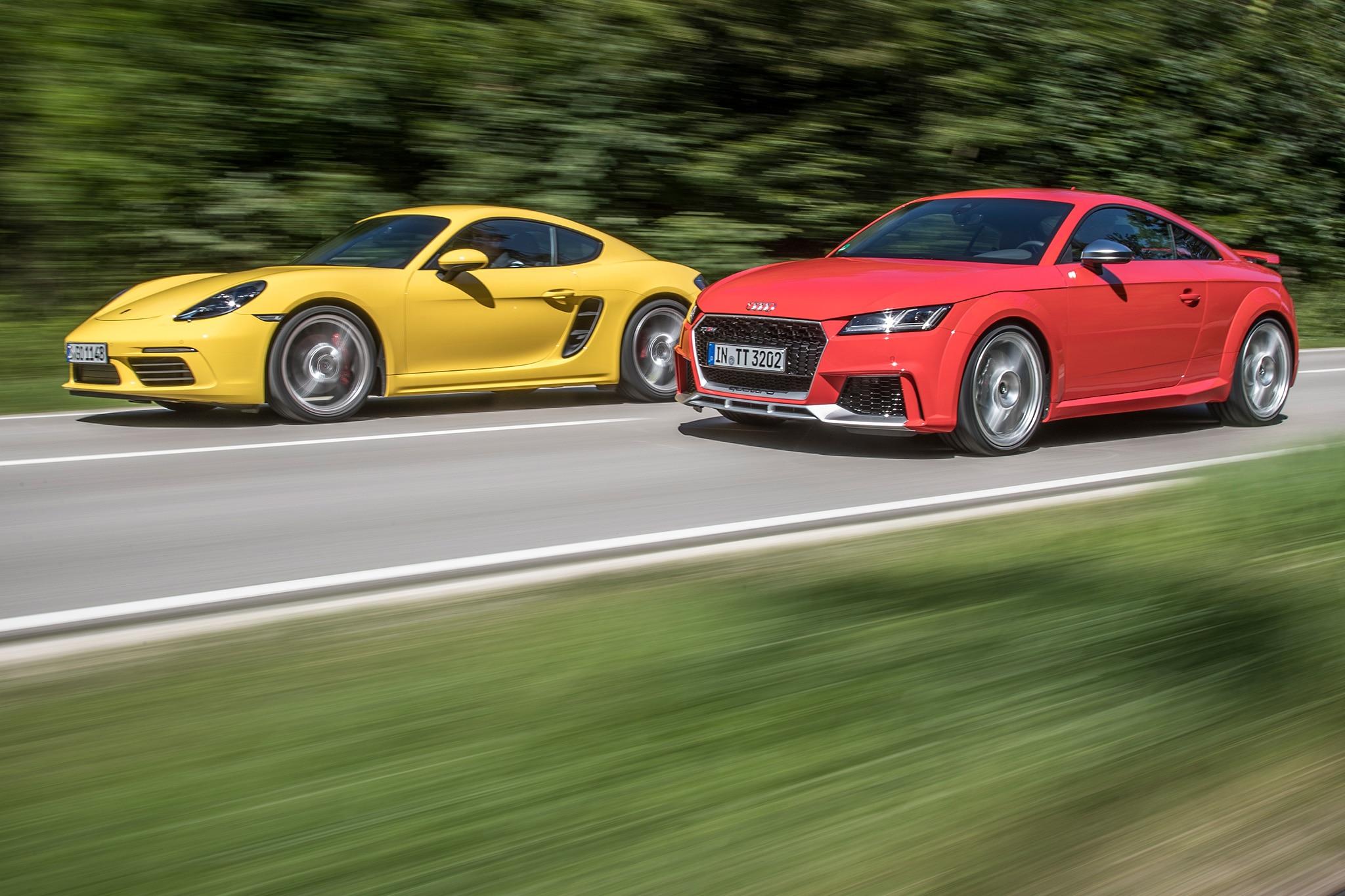 2018 Audi TT RS vs. 2017 Porsche 718 Cayman S | Automobile ...