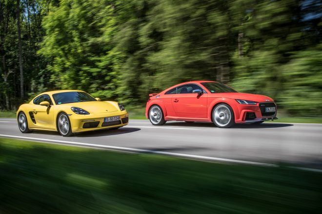2018 Audi TT RS vs 2017 Porsche Cayman S 07