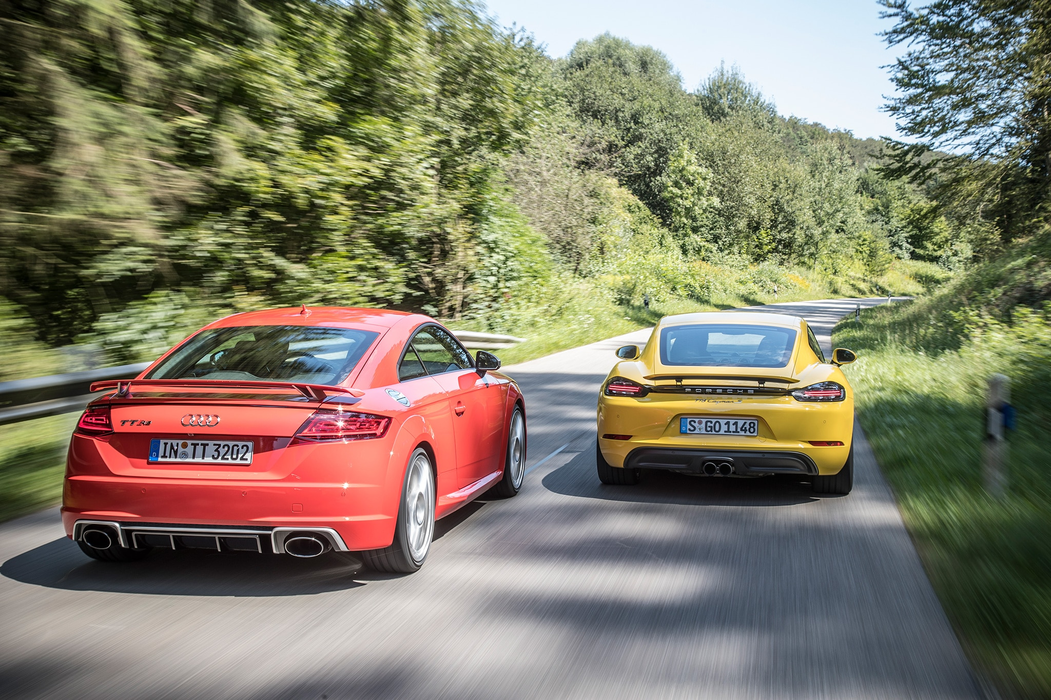 2018 Audi TT RS Vs 2017 Porsche Cayman S 09