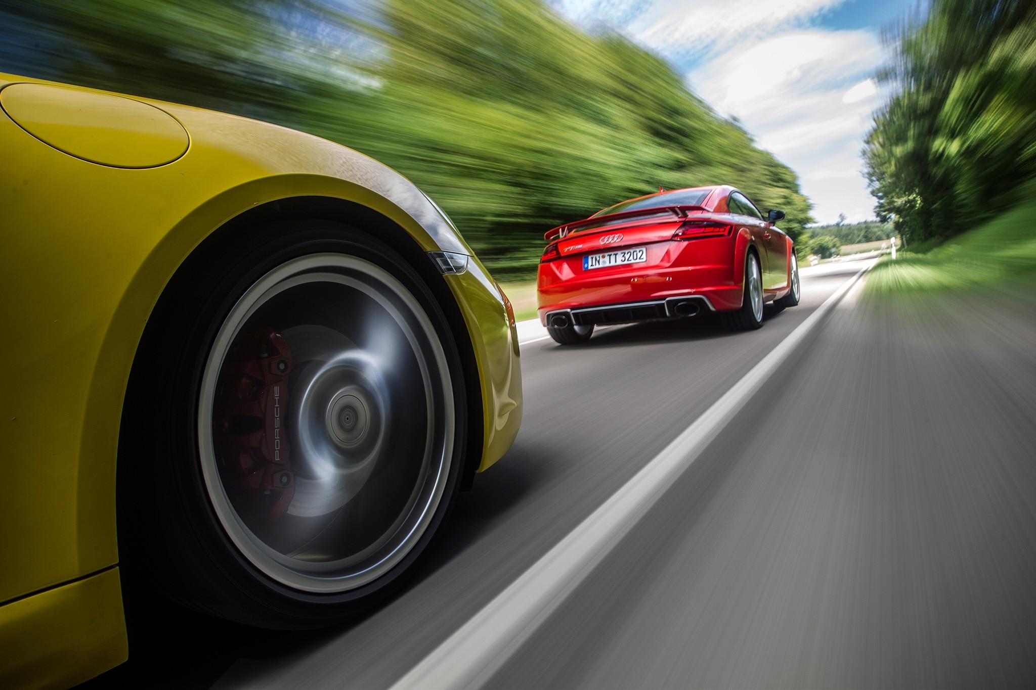 2018 Audi TT RS Vs 2017 Porsche Cayman S 16
