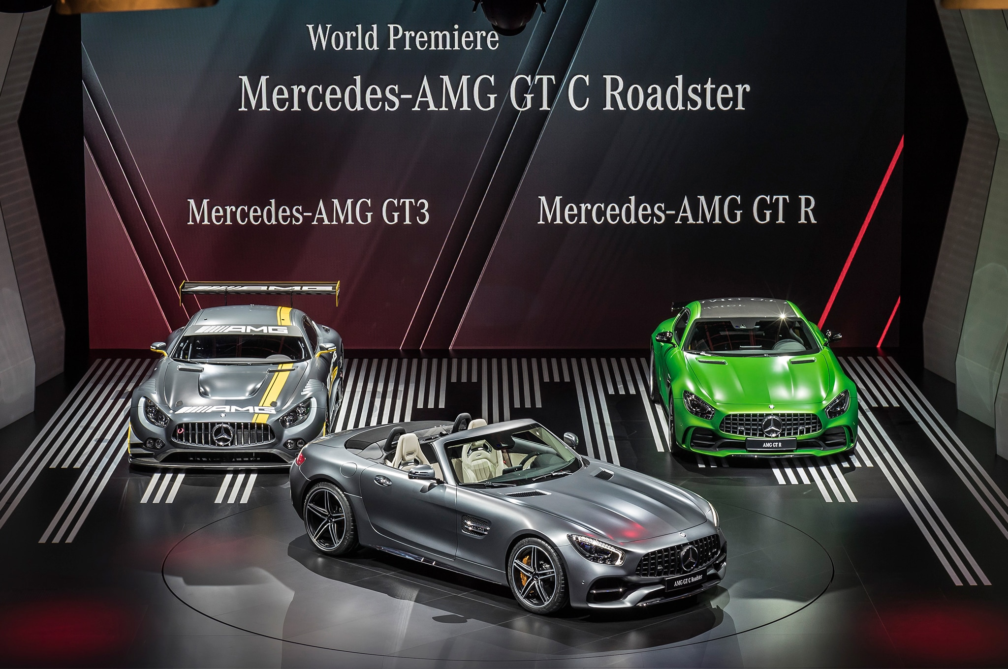 2018 Mercedes AMG GT C Roadster Mercedes AMG GT R And Mercedes AMG GT 3