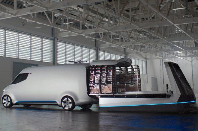 Mercedes Benz Vision Van Concept rear interior view