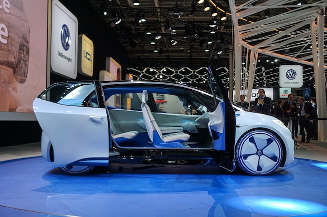 Volkswagen ID Concept Paris Side Doors Open