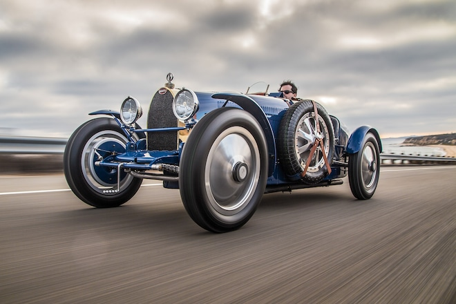 1927 Bugatti Type 35 Pur Sang Front Three Quarter In Motion