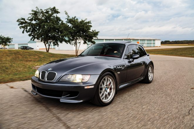 2001 BMW M Coupe S54 front three quarter in motion 01