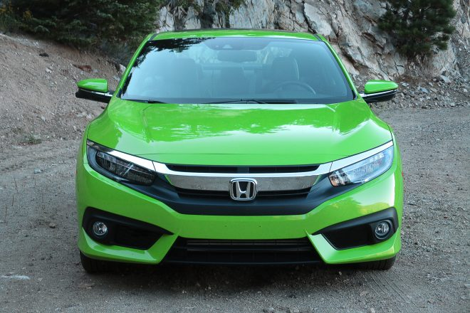 2016 Honda Civic Coupe Touring front view