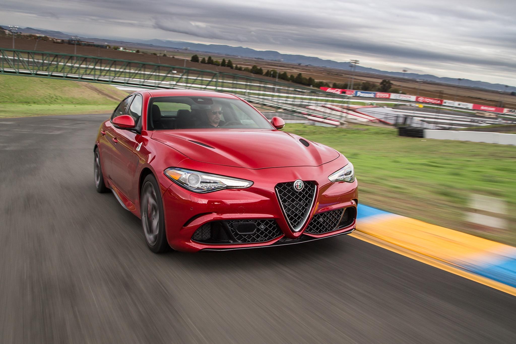 2017 Alfa Romeo Giulia Quadrifoglio Front Three Quarter In Motion 01 1