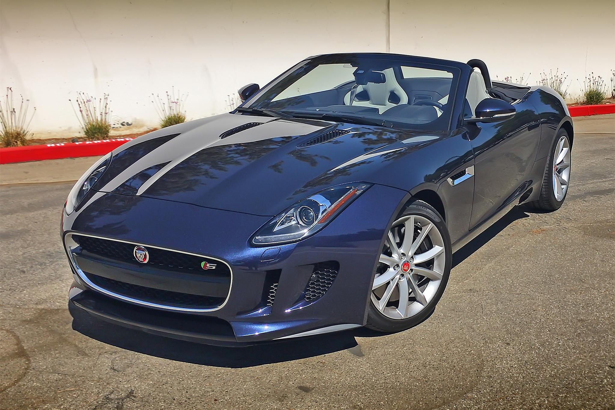 2017 Jaguar F Type S Convertible Front Three Quarter 04