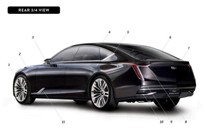 By Design Cadillac Escala rear three quarter