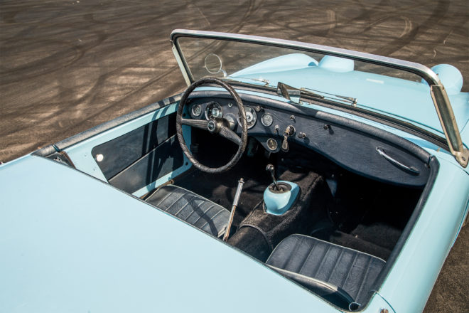 1960 Austin Healey Sprite interior overview