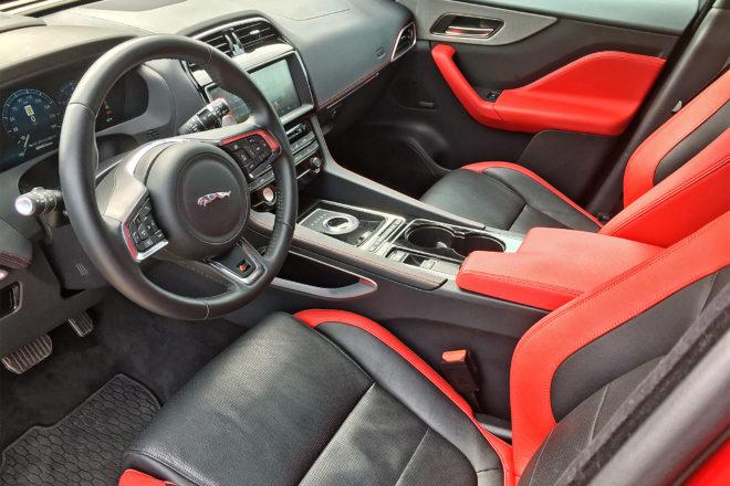 2017 Jaguar F Pace S cabin