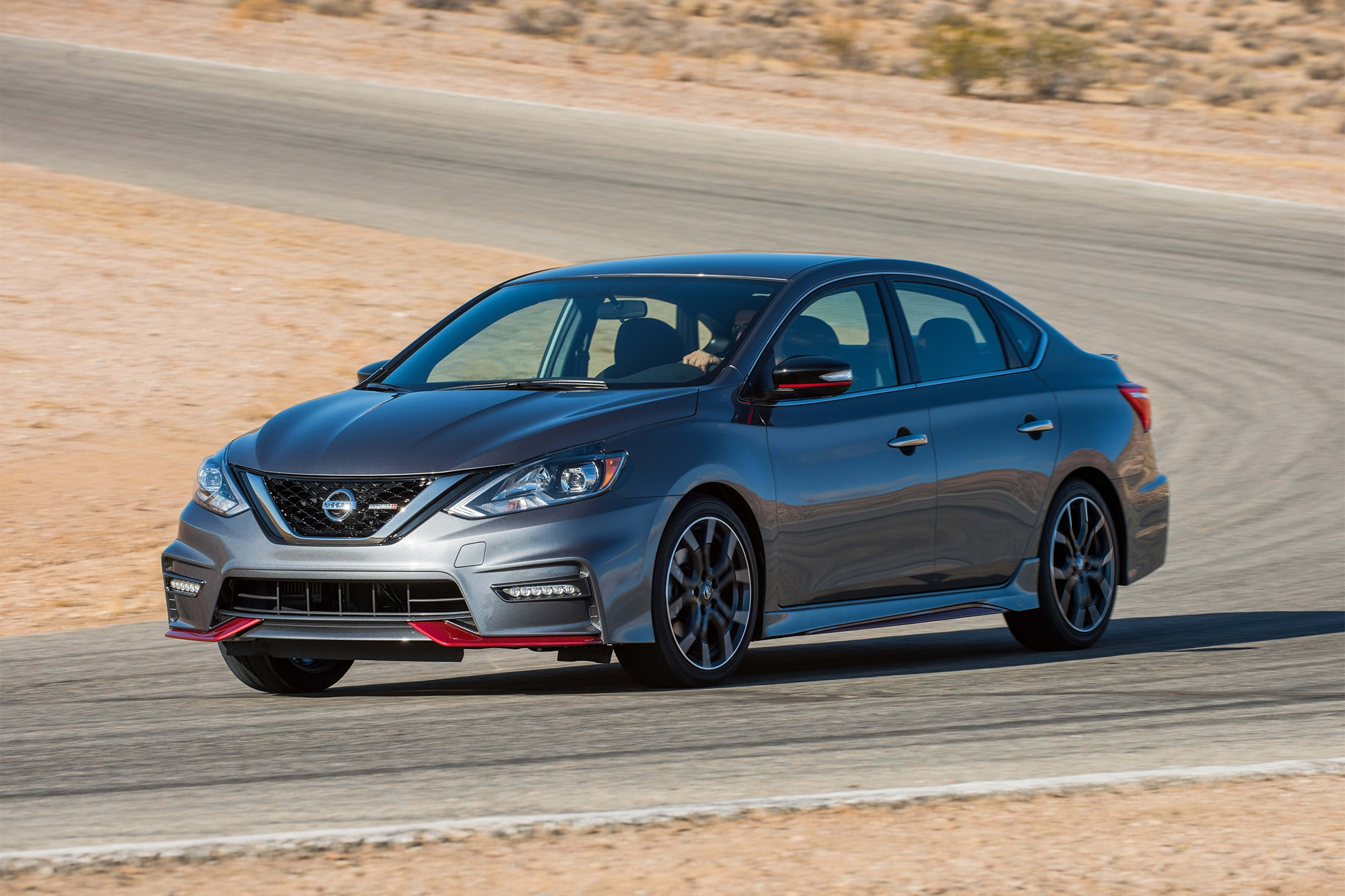 2017 Nissan Sentra NISMO Front Three Quarter In Motion 07